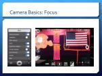 camera basics focus