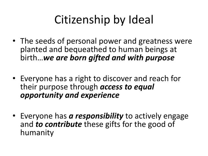 Citizenship by Ideal