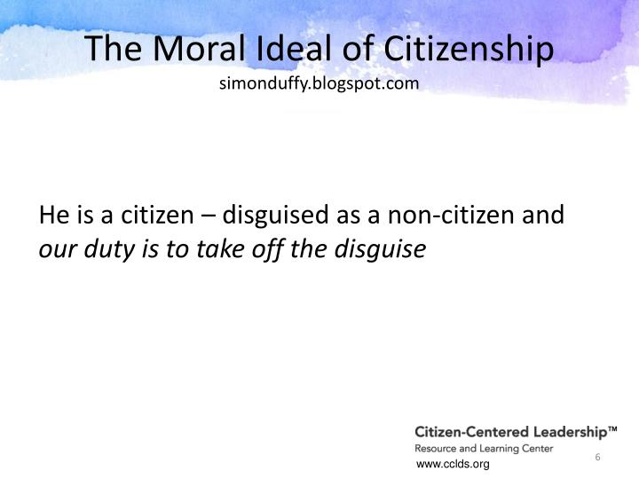 The Moral Ideal of Citizenship