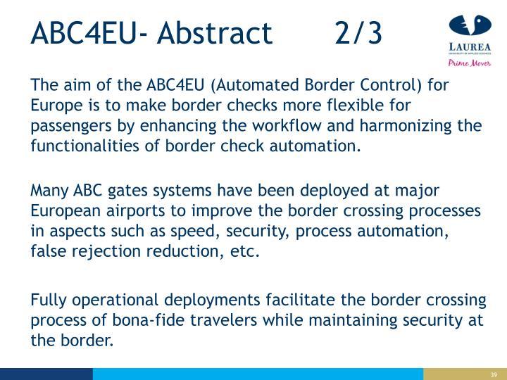 ABC4EU- Abstract 2/3