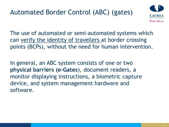 Automated Border Control (ABC