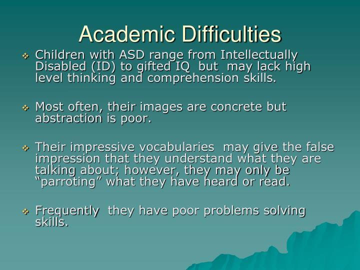 Academic Difficulties