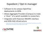 expedient opt in manager