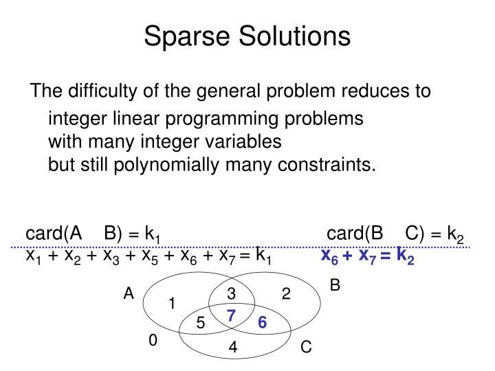 Sparse Solutions