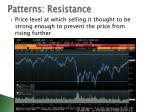 patterns resistance