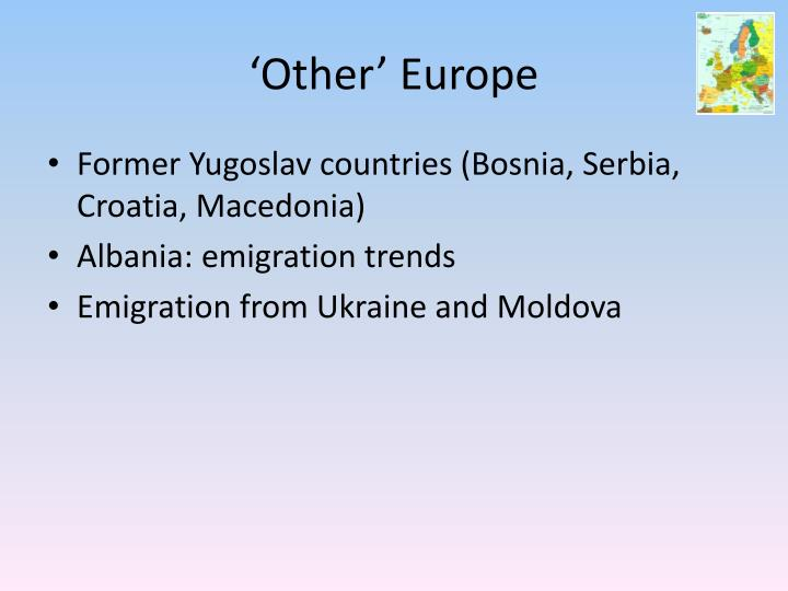 'Other' Europe