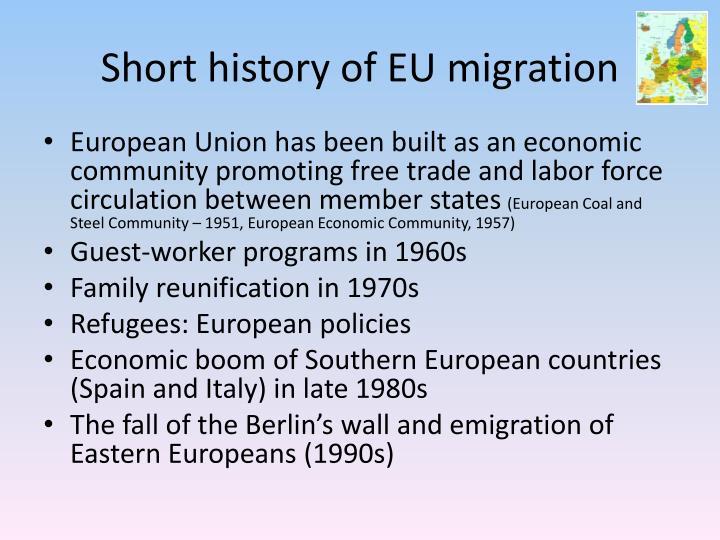 Short history of EU migration