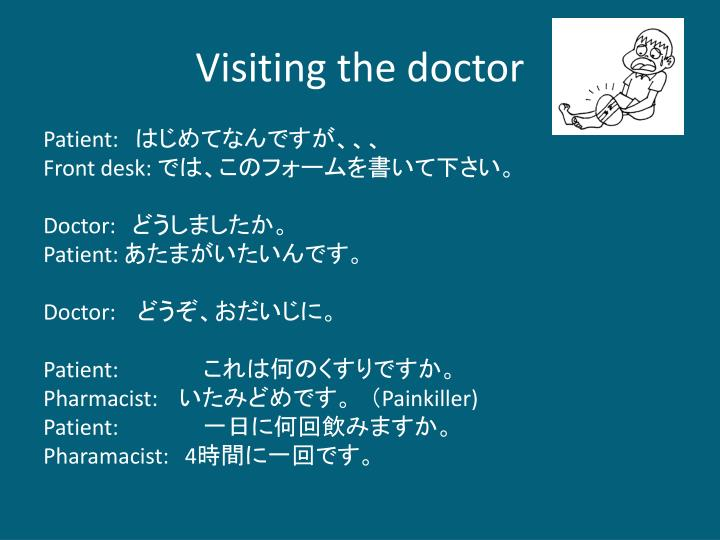 Visiting the doctor