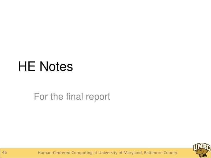 HE Notes