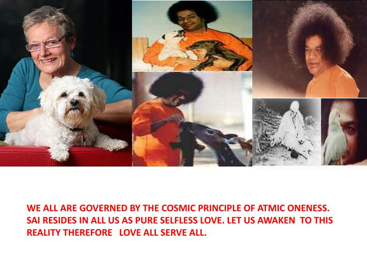 WE ALL ARE GOVERNED BY THE COSMIC PRINCIPLE OF ATMIC ONENESS.