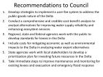 recommendations to council1