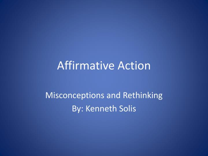 an overview of the importance of affirmative action