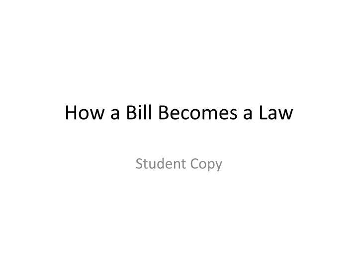 how a bill becomes a law n.