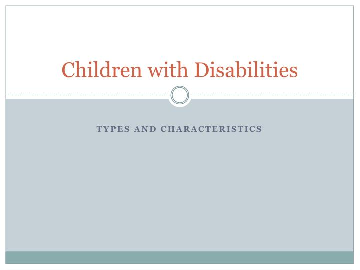 children with disabilities n.