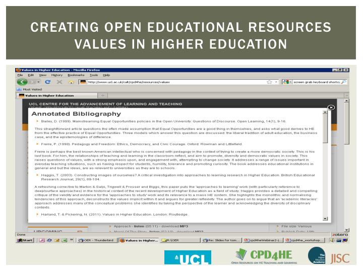 CREATING OPEN EDUCATIONAL RESOURCES