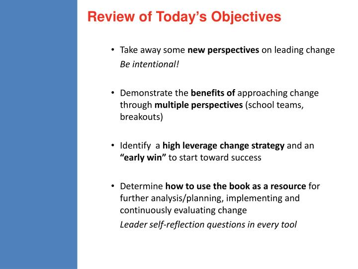 Review of Today's Objectives