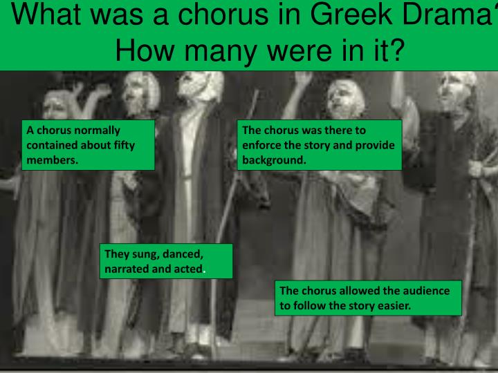 What was a chorus in Greek Drama?  How many were in it?
