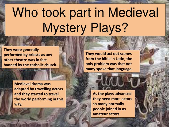 Who took part in Medieval Mystery Plays?