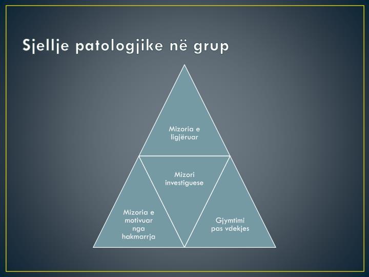 Sjellje patologjike në grup