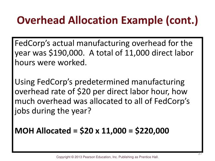predetermined overhead rates example