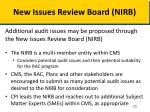 new issues review board nirb