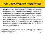 part d rac program audit phases