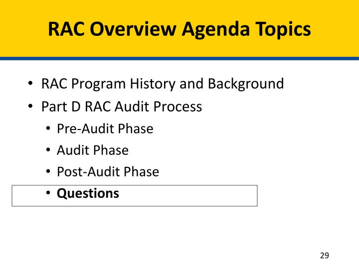 recovery audit contractor program The medicare  recovery audit contractor (rac) program: update  to the evaluation of the  3-year demonstration  january 2009.