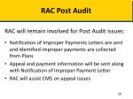 rac post audit
