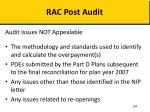 rac post audit4