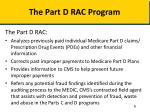 the part d rac program