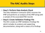 the rac audits steps2