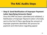 the rac audits steps4