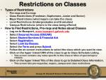 restrictions on classes