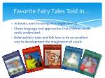 favorite fairy tales told in