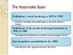 tre historiske faser