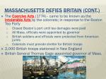 massachusetts defies britain cont