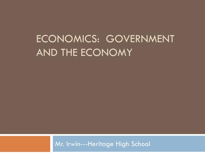economics government and the economy n.