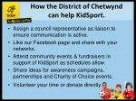 how the district of chetwynd can help kidsport
