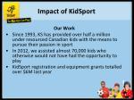 impact of kidsport