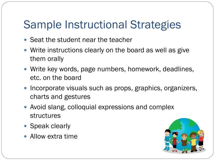 Sample Instructional Strategies