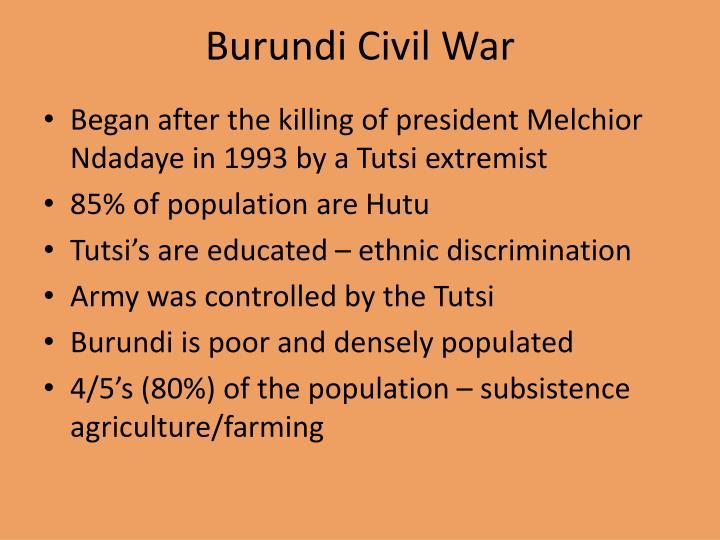 Burundi Civil War
