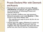 prussia declares war with denmark and austria