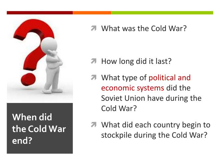 when did the cold war end n.