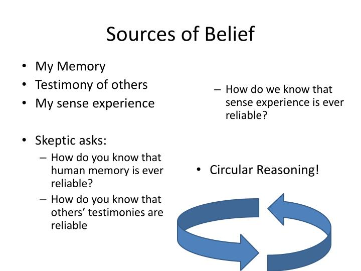 Sources of Belief