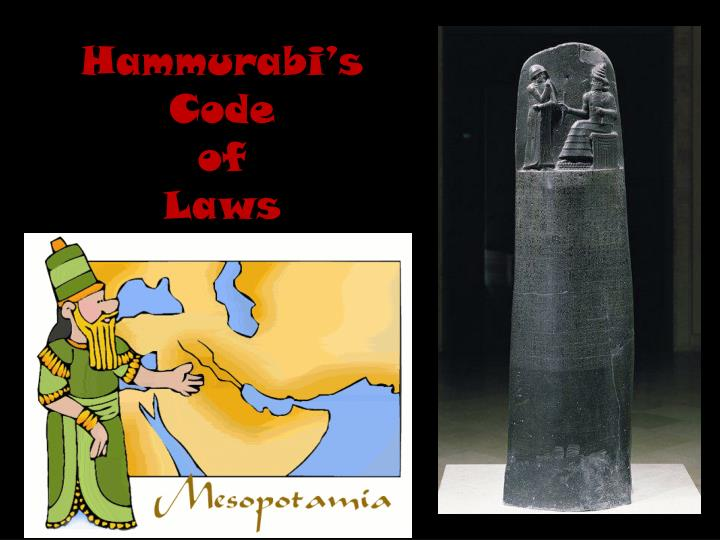 code essay hammurabi Law code of hammurabi everything and everyone has a history things and materials do not just appear on this earth a custom essay sample on law code of hammurabi.