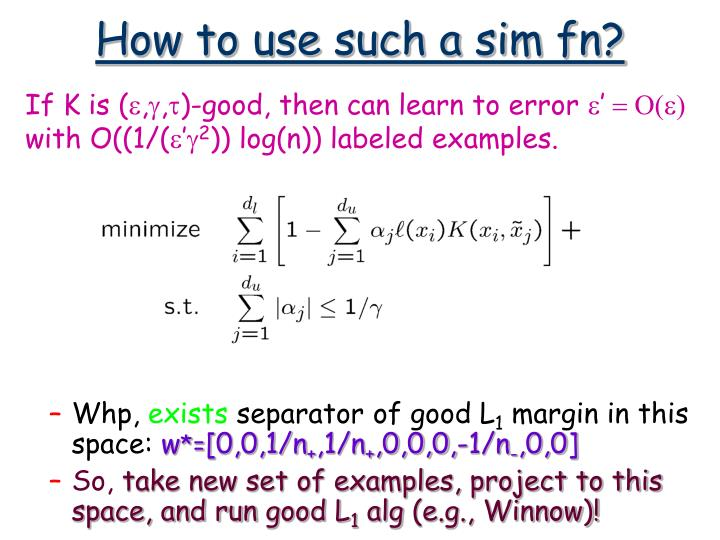 How to use such a sim fn?
