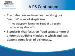 a ps continuum