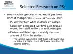 selected research on ps