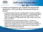 staff audit practice alert no 10