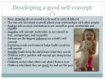 developing a good self concept